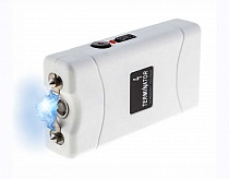 Terminator SGTW800 - Max Power Mini Rechargeable Reliable Stun Gun with LED Flashlight ( White)