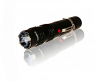 ALPHA FORCE Stun Gun 230,000 Police Tactical Flashlight Quadruple Shock Prongs Black