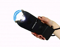 Terminator Stun Gun SGT10-999MV with Ear-Piercing Siren and Bright Flashlight