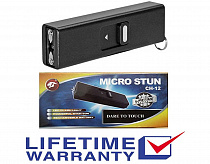 Cheetah STUN GUN SGCH 999 MV MINI RECHARGEABLE POLICE STUN GUN Black