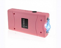 Terminator Stun Gun with Flashlight Max Power Mini Rechargeable Cheap Reliable Stun Gun With LED (Pink)